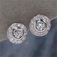18k Gold 0.41 Cttw. Diamond Button Earrings
