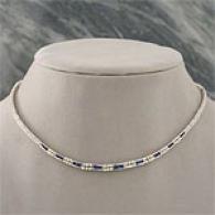 18k Gild 2.78 Cttw. Sapphire & Diamond Necklace