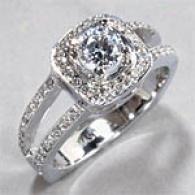 18k Gold .76cttw Diamond Fashion Engagement Ring