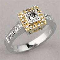 18k Two Tone 0.60 Cttw. Diamond Rung