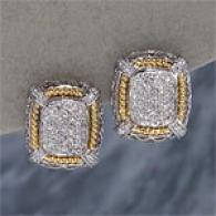 18k Two Toje .57cttw Diamond Earrings