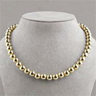 18k Vermeil Classic Bead Necklace