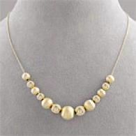18k Vermeil Graduated Bead Necklace