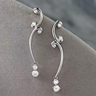 18k White Gold 0.50 Cttw. Diamond Drop Earrings