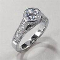 18k White Gold 1.75cttw Diamond Engagement Ring