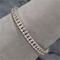 18k White Gold 7.46cttw. Diamond Bracelet