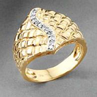 18k Yellow Gold 0.10 Cttw. Diamond Ring