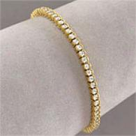 18k Yellow Gold 3.15 Cttw. Diamond Braceelt
