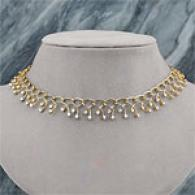 18k Yellow Gold 3.49 Cttw. Diamond Collar Necklace