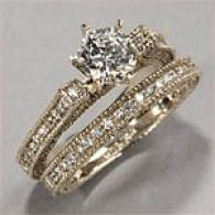 18kt 2.26 Cttw. Diamond Engagementt & Bridal Ring