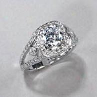 18kt White Gold 1.51cttw Diamond Engagement Ring