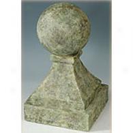 19.5in Stone Finial Garden Statue