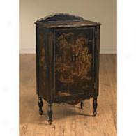 2 Door Black Oriental Cabinet
