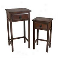 2 Pc Plant Stands - Coffee Brown