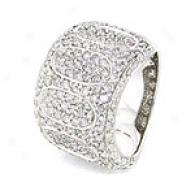 2.78 Cttw. Pave Diamond Ring, 14k White Gold