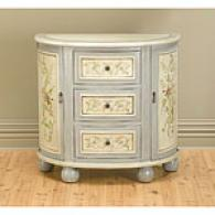 3 Drawer 2 Door Grey And Ivory Console Cabinet
