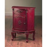 32in Antique Red Accent Chest