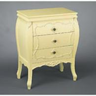 33.5in But5er Yellow 3-drawer Chest