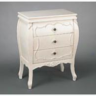 33.5in Ivory Elegance 3-drawer Chest