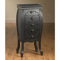 36.5in Antique-inspired 5-drawer Black Chest