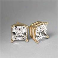 4-prong 14k Yellow Gold 1.50 Cttw. Diamond Studs