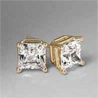 4-prong 14k Yellow Gold 2.00C ttw. Diamond Studs