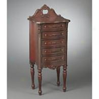 44.5in Tall Regal 5 Drawer Brown Chest