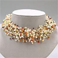 50 Row 3.5mm - 5mm Pearl & Gemstone Necklace