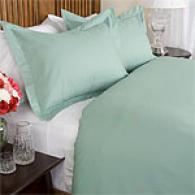 600tc Woven Stripe Cotton Single Ply Duvet Set