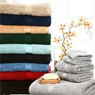 6pc Ring Spun 2 Ply Cotton Oversized Towel Set