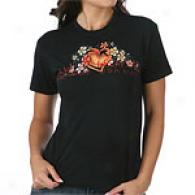 7 For All Mankind Spray Paint Flower Tee