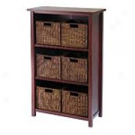 7pc Cabinet & Shelf With 6 Small Baskets