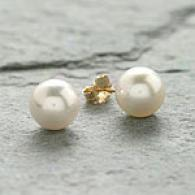 8mm-8.5mm White Japanesw Akoya Pearl Earrings