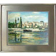 A Settler's October Frmed Oil Painting