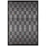 Acura Black Plaud Bamboo Rug With Border