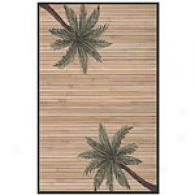 Acura Palm Tree Hand Woven Bamboo Rug With Border
