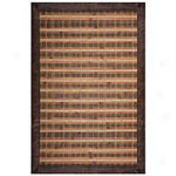 Acura Plaid Hand Woven Bamboo Rug With Border