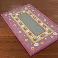 AcuraP retty Pink Figure Hand-tufted Wool Rug