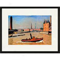 Albert Marquet The Port Of Hamburg Feamed Print