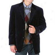 Alfani Navy Velvet Cotton 3 Button Sportcoat
