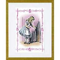 Alice Tries The Golden Key 17 X 23 Framed Print