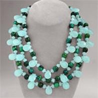 Amazonite 850 Cttw. & Blue Stone Necklace