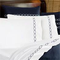 Anabella Fiorento Napoli Navy Egyptian Sheet Set