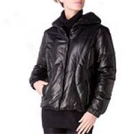 Andrew Marc Cara Black Leather Coat