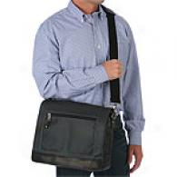 Andrew Marc Daley Leather Messenger Bag