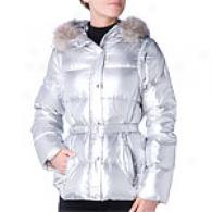 Andrew Marc Swipe Aluminum Coat