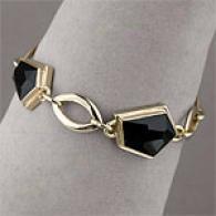 Andy Gotz 14k 25.00 Cttw. Onyx Connective Bracelet