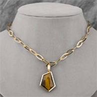 Andy Gotz 14k 30.00 Cttw. iTger's Eye Necklace
