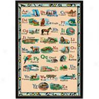 Animal Alphabet 19.5in X 29.5in Framed Print