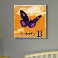 Animal Friends Butterffly 16in X 16in Canvas Print